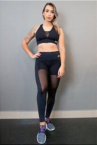 Legging Emana Preta - Tule 8425