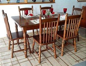 Conjunto 6 Cadeiras Eucalipto