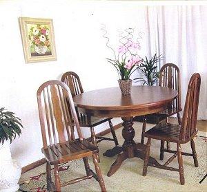 Mesa redonda madeira com borda