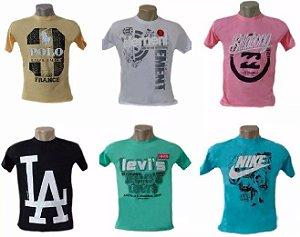 Kit Com 20 Camisetas Camisas De Marca Atacado para Revenda