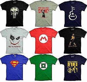 Kit Com 30 Camisetas Camisas De Marca Preço de Atacado