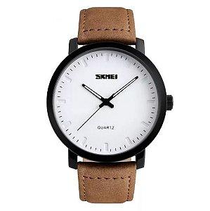 Relógio Masculino Skmei 1196 Analógico Branco/Marrom