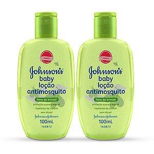 kit Com 2 Loção Johnson's Baby Antimosquito 200ml