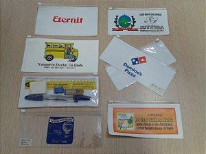 Porta Voucher Zip Zap 23 cm x 12 cm 100 unidades 3 cores