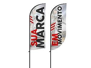 Flag Banner sem Base 2 mts