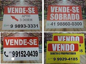 Placas de Imobiliária