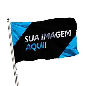 Bandeira 1,30mtsx90cm impressão de um lado