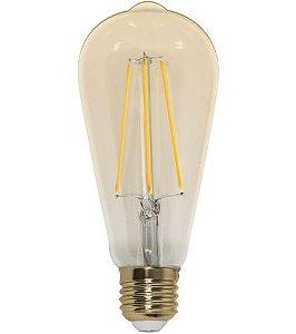 Lâmpada Filamento de Carbon ST64  Bivolt 100V - 240V  Só Aqui
