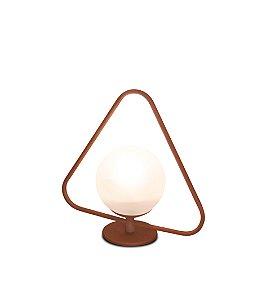 Luminária Signos Globo de Vidro Triângulo