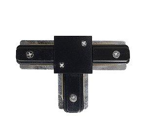 Conector T trilho Eletrificado Preto Confira