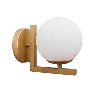 Arandela Angular Globo de Vidro 12cm Diâmetro Aproveite