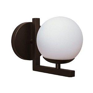 Arandela Angular Globo de Vidro 14cm Diâmetro Aproveite
