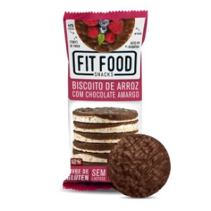 Biscoito de Arroz com Chocolate Amargo - Fit Food 70g