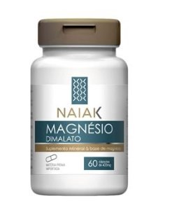 Magnésio Dimalato Naiak  -60 Cápsulas - de 400mg