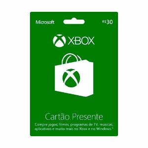 Cartao Xbox Live - R$30