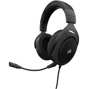 Headset Gamer Corsair HS50 Estéreo Carbon