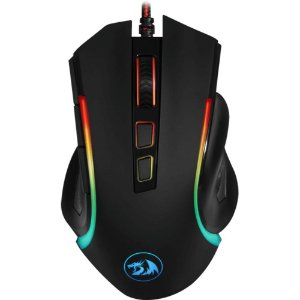 Mouse Gamer Redragon Griffin RGB 7200dpi - Preto
