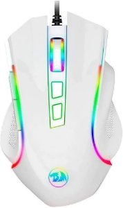 Mouse Gamer Redragon Griffin RGB 7200dpi - Branco