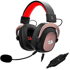 Headset Gamer Redragon Zeus 2 7.1 Surround Preto/Vermelho