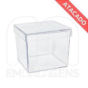 Caixinha de Acrilico Atacado 5x5x5  (100 unid.)