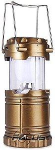 LAMPIAO REC. 6 LEDS 3W SOLAR E PILHA SL0143