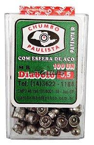 CHUMBINHO PAULISTA DIABOLO COM ESFERA 5.5MM C/100PC
