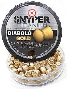 CHUMBINHO SNYPER DIABOLO GOLD 5.5MM C/100PC