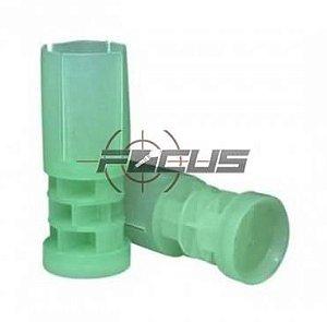 BUCHA PLASTICA VERDE CAL. 24 C/100