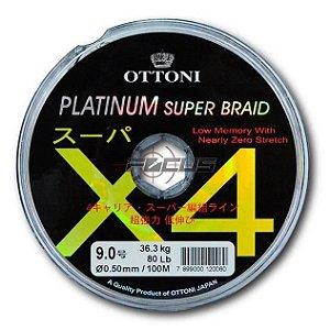 LINHA MULTIF. PLATINUM X4 0.40MM 50LBS 100M