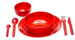 Kit Refeição Vermelho