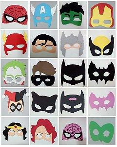 Máscaras de EVA Super Heróis, Vilões , Vingadores e Liga da Justiça Infantil .