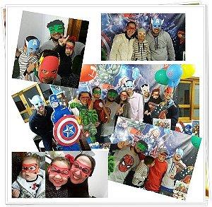 Máscaras para adultos de Super Heróis, Vingadores e Liga da Justiça de EVA