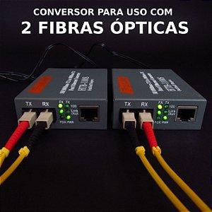 PAR -  Conversor de mídia Htb-1100s 25km | Para uso com 2 fibras ópticas