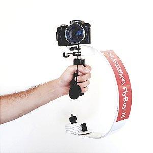 Flycam Flyboy III DSLR Estabilizador e Adaptador para GoPro e iPhone