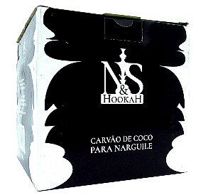 Carvão de coco para narguile - N&S Hookah - Caixa master com 10 UNIDADES de 1kg