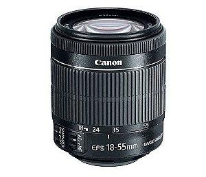 Lente Canon EFS 15-55mm - estabilizador de imagem