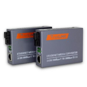 Conversor de Mídia GIGA WDM - PAR para uso com 1 fibra óptica