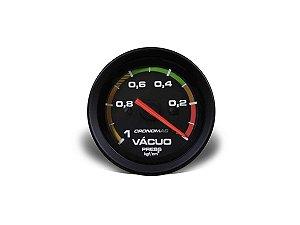 Vacuômetro Cronomac -1kg / 52mm - Preto / Branco