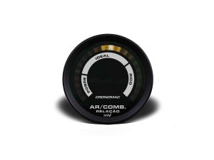 Hallmeter Ar / Combustível Cronomac - 52mm - Preto / Branco