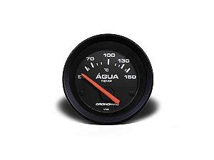 Termômetro Elétrico De Água Cronomac - 52mm - Preto / Branco
