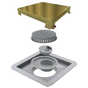 Ralo Linear Elleve Square Tampa Gold 15x15cm Ref. 4244 Ralo Linear