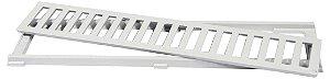 Grelha com Porta Grelha em Alumínio cor Branca 10x50cm LGMAIS