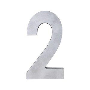 Algarismo Residencial Polido Estilo Caixa Nº2 LGMAIS