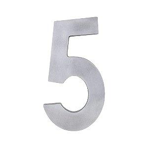 Algarismo Residencial Polido Estilo Caixa Nº5 LGMAIS