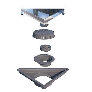 Ralo Linear Elleve Vertex Triangular Tampa Inox Polida Ref. 5209 Ralo Linear