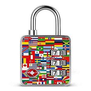 Cadeado com Segredo Travel TSA Nações Papaiz