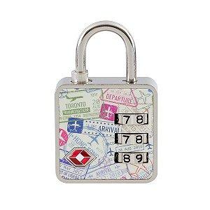 Cadeado com Segredo Travel TSA Passaporte Papaiz