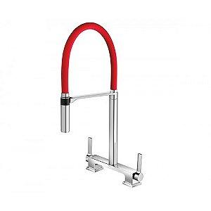 Misturador de Cozinha Mesa DOC Chrome/Vermelho 00738779 Docol