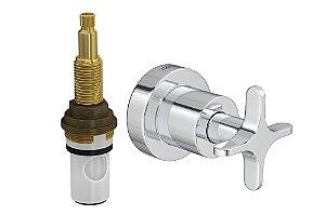 """Acabamento para Registro 4916 C20 PQ de Pressão com Mecanismo MVR 1/2"""" a 1"""" Flex Deca"""