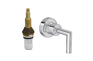 """Acabamento para Registro 4916 C24 PQ de Pressão com Mecanismo MVR 1/2"""" a 1"""" Izy Plus Deca"""